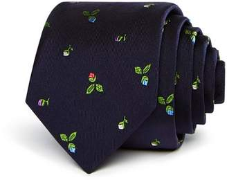 Paul Smith Narrow Rose Pattern Skinny Tie