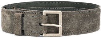 Alaïa Pre Owned Square Buckle Textured Belt