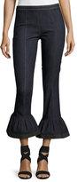 Cinq à Sept Clothing Celia Denim Bell-Bottom Skinny Pants, Indigo