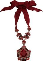 Lanvin Crystal Babylon Pendant Necklace