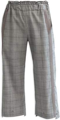 Cleo Prickett Crop Trouser With Textured Stripe In Glen Check Wool From Savile Row