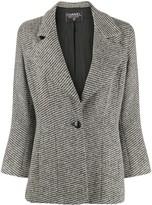 Chanel Pre Owned 1990s striped slim-fit blazer