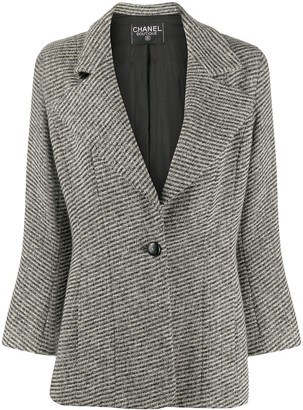 Chanel Pre Owned 1990s Striped Slim-Fit Blazer