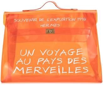 Hermes Pre Owned vinyl Kelly beach tote