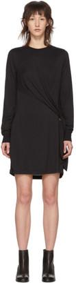 Rag & Bone Black Draped Shaw Mini Dress