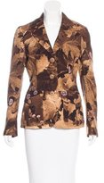 Moschino Abstract Print Notched Lapel Blazer