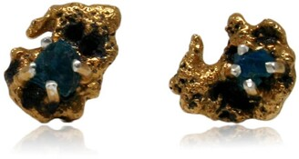 Karolina Bik Jewellery Out Of The Sea Earrings With Raw Apatite