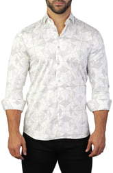 Maceoo Fibonacci Regular Fit Panther Print Shirt
