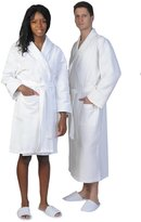 Hot-Shelf Unisex Waffle Diamond Shawl Collar Bathrobe