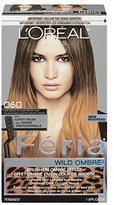 L'Oreal Feria Brush-on Ombre Effect Hair Color, O60 Wild Ombre for Medium to Dark Brown Hair (Packaging May Vary)