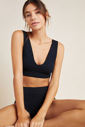 Anthropologie Sasha Seamless V-Neck Bra By in Black Size M/L