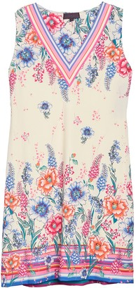 Hale Bob Floral Print V-Neck Jersey Dress
