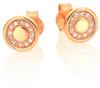 Astley Clarke Mini Cosmos Diamond & 14K Rose Gold Stud Earrings
