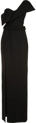 Brandon Maxwell One-Shoulder Slit Gown