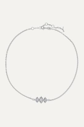 YEPREM 18-karat White Gold Diamond Necklace - one size
