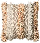 """Loloi Pillow, Poly Filled - Rust / Ivory Pillow Cover, 18"""" 18"""""""