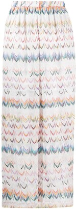 Missoni Mare Embroidered Zigzag Wide-Leg Trousers