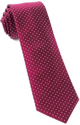 Tie Bar Mini Dots Burgundy Tie