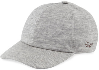 Ermenegildo Zegna Men's Heathered Cashmere-Blend Jersey Baseball Cap