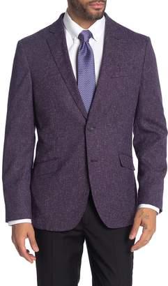 Savile Row Co Plum Notch Collar Dual Button Suit Separate Sport Coat