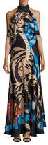 Temperley London Catalinia Halterneck Maxi Dress