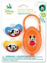 Disney Mickey Mouse Pacifiers & Pacifier Case