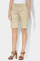 Lauren Ralph Lauren Slim Fit Bermuda Shorts (Petite)