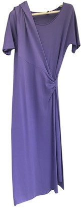 Jil Sander Purple Wool Dresses