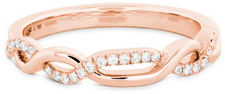 Hearts On Fire 18K Rose Gold 0.09 Ct. Tw. Diamond Destiny Lace Twist Ring