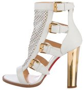 Christian Louboutin Perforated Cage Sandals