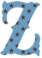 Wall Candy Arts WallCandy Arts Luv Letters Stars Z, Blue/Black