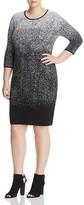VINCE CAMUTO Plus Ombré Jacquard Sweater Dress