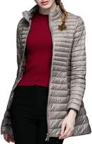 CHERRY CHICK Women's Light Weight Puffer Down Long Jacket
