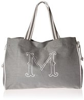 Mud Pie ud Pie Gray Initial Tote Diaper Bag