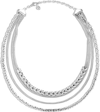 John Hardy 'Asli Classic Chain' silver multi-row necklace