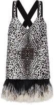 Proenza Schouler Feather Trimmed Short Dress