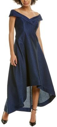 Teri Jon Off-The-Shoulder A-Line Dress
