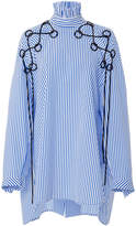 Ellery Railroad Striped Lace Up Shirt