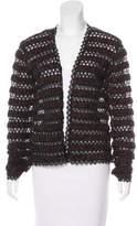 Chanel Crochet Open-Front Cardigan