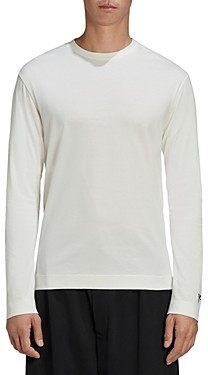 Y-3 Long Sleeve Back Text Graphic Tee