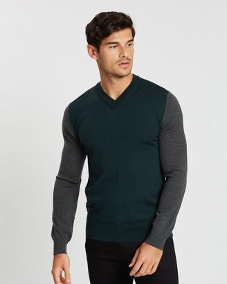 Cerruti Colour-Blocked Knitted Jumper