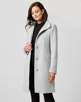Le Château Wool Twill Funnel Collar Coat