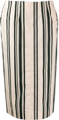 Aspesi Striped Pencil Skirt