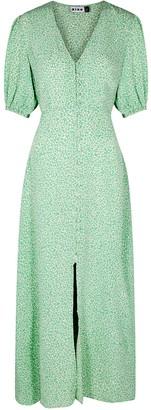 Rixo Staci green floral-print maxi dress