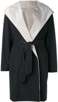 Max Mara hooded belt coat - women - Cotton/Polyester - 38