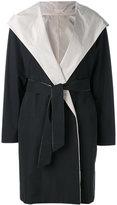 Max Mara hooded belt coat