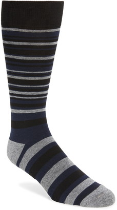 Nordstrom CoolMax(R) Stripe Dress Socks