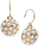 lonna & lilly Gold-Tone Imitation Pearl Dome Drop Earrings
