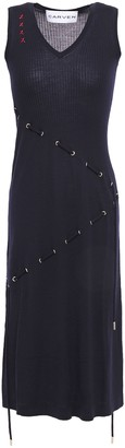 Carven Tie-detailed Merino Wool And Silk-blend Dress