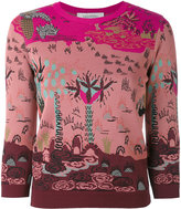 Valentino Garden Segments jumper - women - Viscose/Polyester - XS